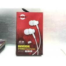 ETAR ET-34 Universal Stereo Super Bass EarPhone(HandsFree)